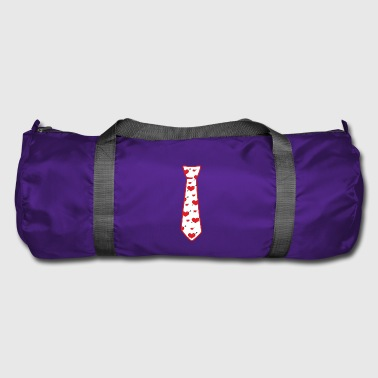 Tie with hearts! - Duffel Bag
