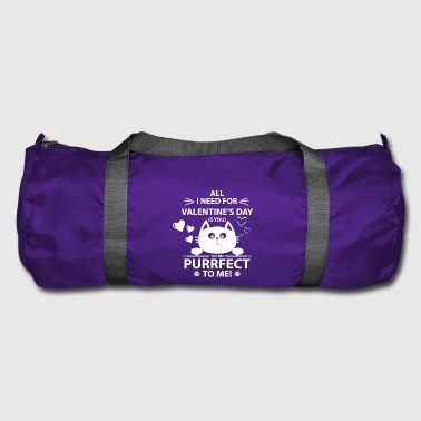 Purrfect kitten Valentine's Day cute cat gift - Duffel Bag