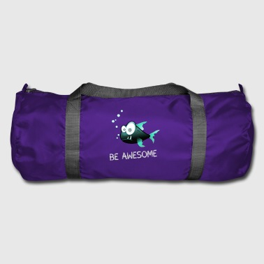 fish angler be awesome fish piranha underwater bi - Duffel Bag