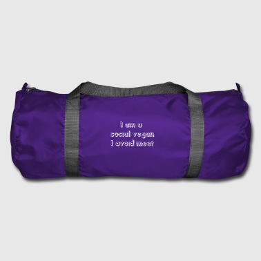 Funny Antisocial Quote Antisocial People gift - Duffel Bag