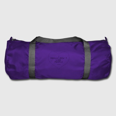 I Really Don't Like People Heart Funny Gift - Duffel Bag