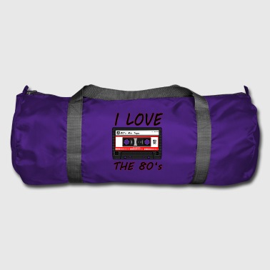 I Love The 80's 80s, 80s, 80s, jazz, music - Duffel Bag
