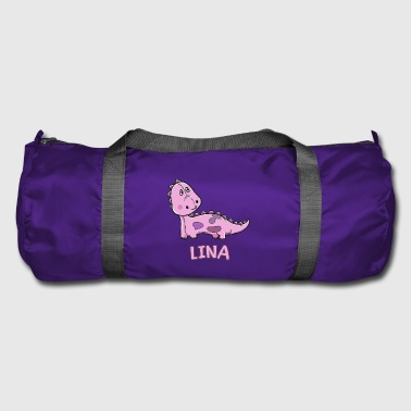 Dinosaur funny child Lina gift birthday K - Duffel Bag