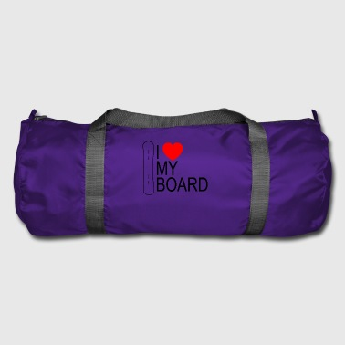 I heart my board - Duffel Bag