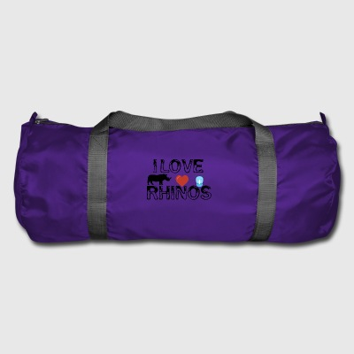 I love Rhinos - Duffel Bag