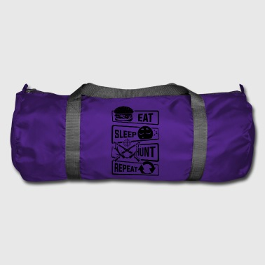Eat Sleep Hunt Repeat - hunting hunter forest hunting season - Duffel Bag