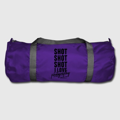 Shot shot shot I love photography - Duffel Bag