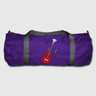 guitare rouge - Sac de sport