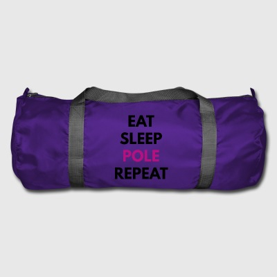 Eat - Sleep - Pole - ripeto, nero - Borsa sportiva