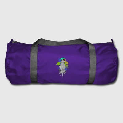 Bird with headphones - Duffel Bag