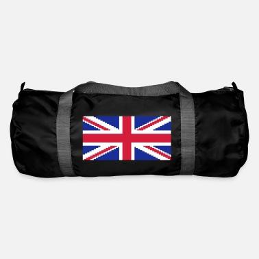 Union Jack Pixel Britse Vlag Sporttas Zwart