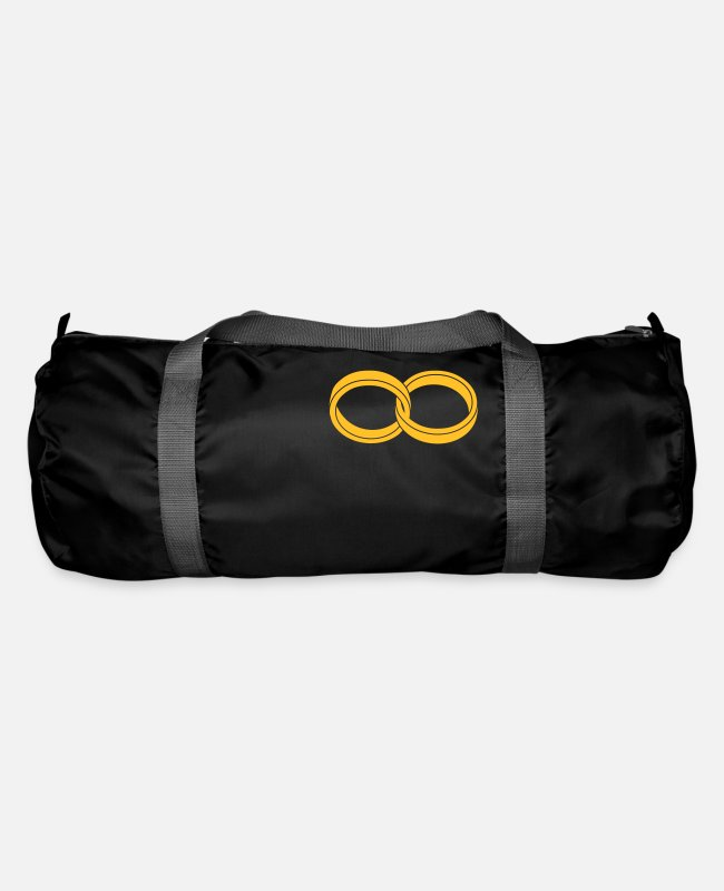 P121562528 Bags & Backpacks - wedding rings - like a Symbol of infinity - Duffle Bag black