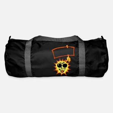 Sun Signs sun sun sign bezel add text - Duffle Bag