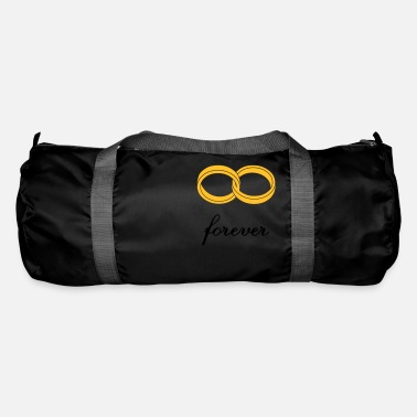 Marriage Infinity Shape wedding rings forever - Duffle Bag