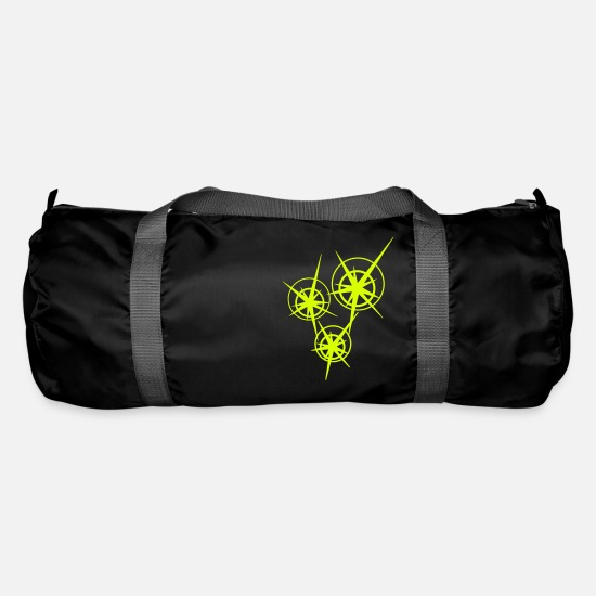 Symbols & Shapes Bags & Backpacks - 3 Funken / 3 sparks (1c) - Duffle Bag black