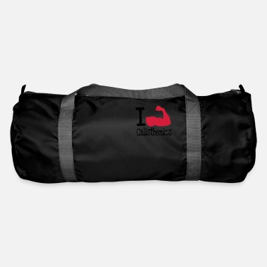 I love calisthenics_red - Duffle Bag