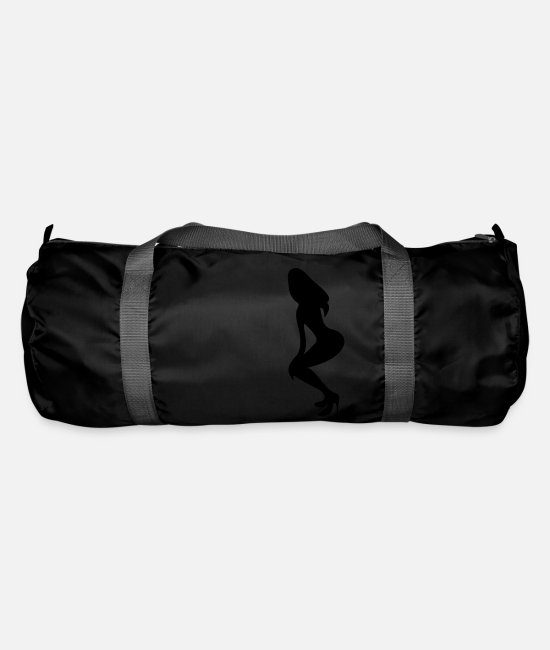 Shilhouette Of Irresistibly Sexy Curvy Pole Dancer Girls With Sexy Tight Rounded Ass Vector Design Bags & Backpacks - ۞»♥Vector Sexy Wasp-waisted woman on Stilettos♥ - Duffle Bag black