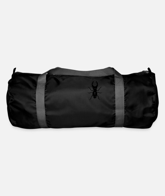 Nature Bags & Backpacks - A stag beetle - Duffle Bag black