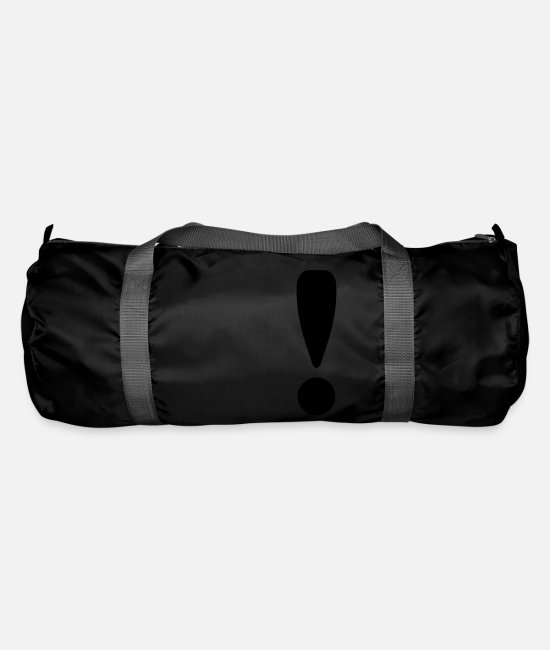 Symbol  Bags & Backpacks - Exclamation Mark / ! - Duffle Bag black