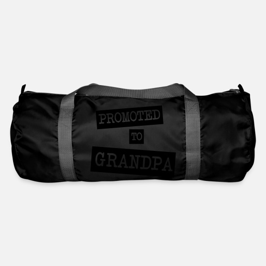 Grandad Bags & Backpacks - Promoted To Grandpa - Duffle Bag black