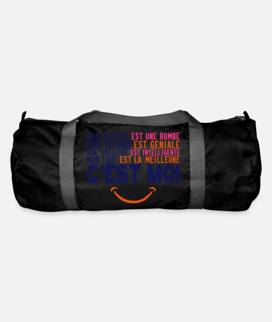 Quote Bags & Backpacks - clever bombshell citation best is - Duffle Bag black