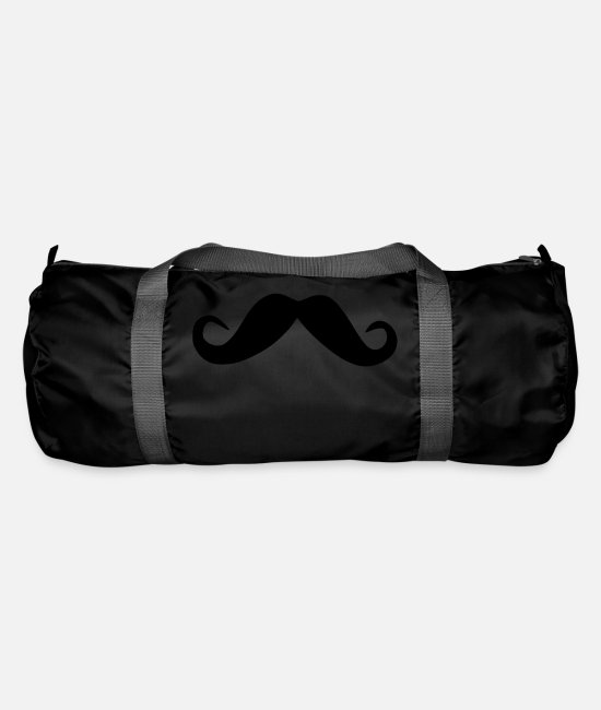 Hipster Bags & Backpacks - mustache - Duffle Bag black