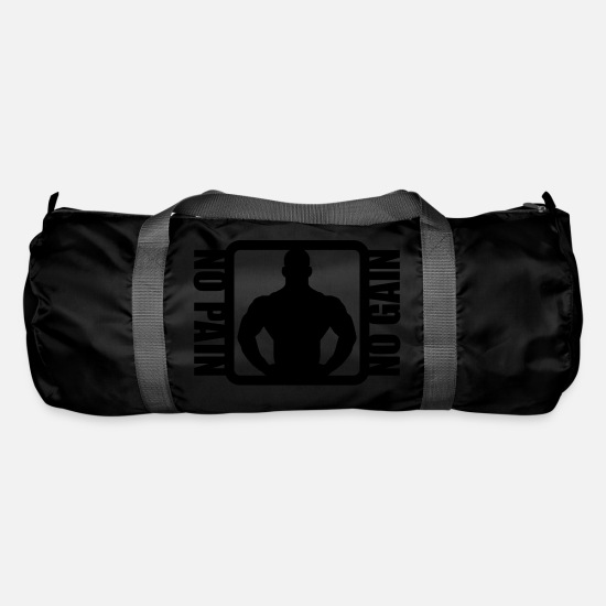 Pain Bags & Backpacks - Bodybuilder Logo Design - Duffle Bag black