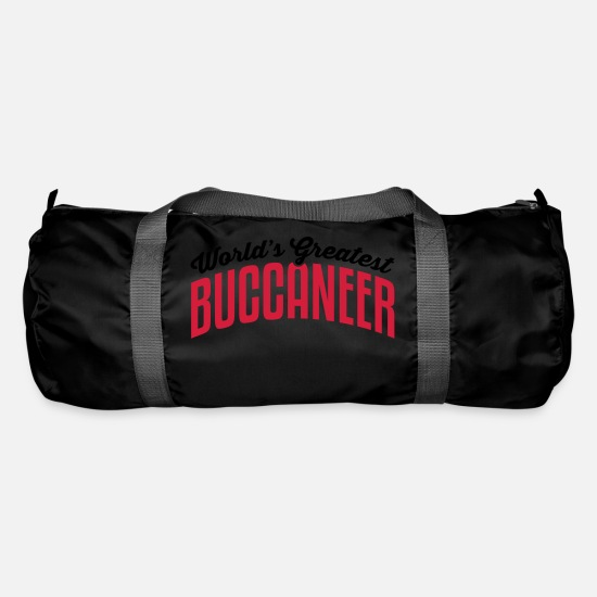 World Bags & Backpacks - worlds greatest buccaneer 2col copy - Duffle Bag black
