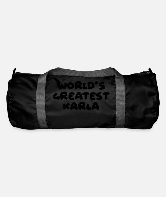 World Bags & Backpacks - worlds greatest karla name - Duffle Bag black