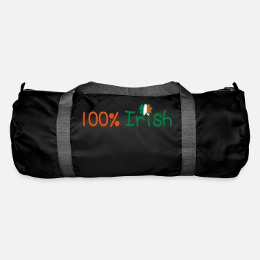 Ireland Underwear ♥ټ☘Kiss Me I'm 100% Irish-Irish Rule☘ټ♥ - Duffle Bag