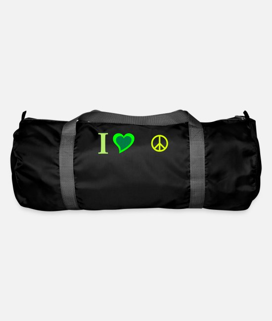 Heart Bags & Backpacks - Peace Symbol - Duffle Bag black