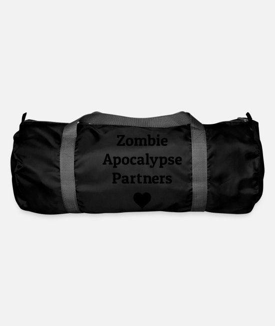 Heart Bags & Backpacks - zombie apocalypse partners - Duffle Bag black