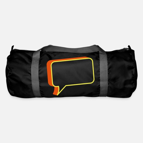 Square Bags & Backpacks - chat box - Duffle Bag black
