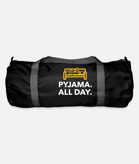 Bed Bags & Backpacks - Throughout The Day In Your Pajamas! - Duffle Bag black
