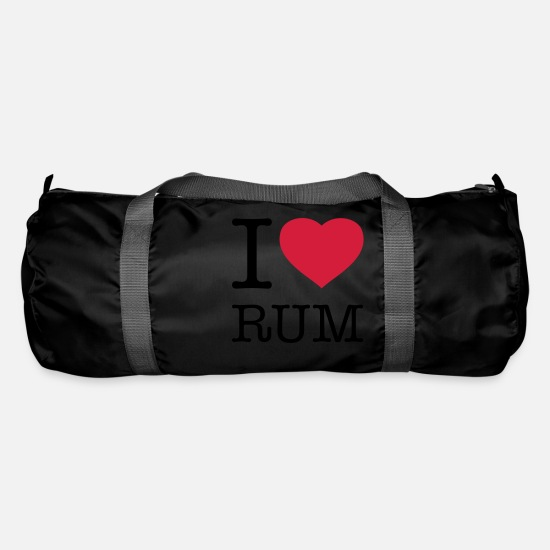 Alcohol Bags & Backpacks - I LOVE RUM - Duffle Bag black