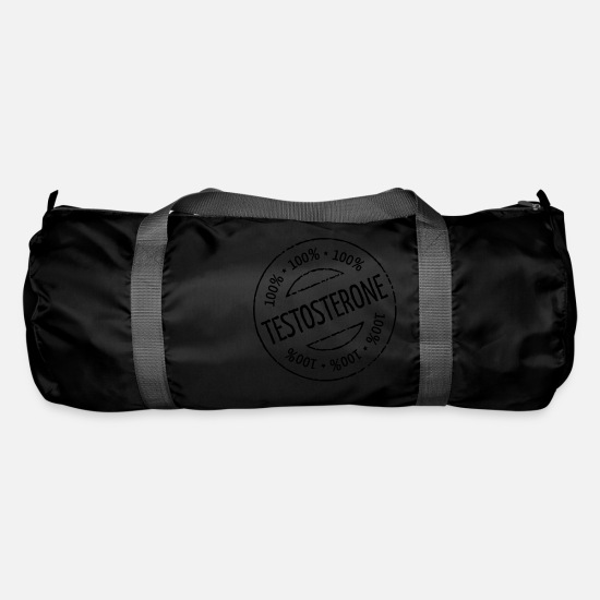 Body Builder Bags & Backpacks - 100% Testosterone Stamp - Duffle Bag black