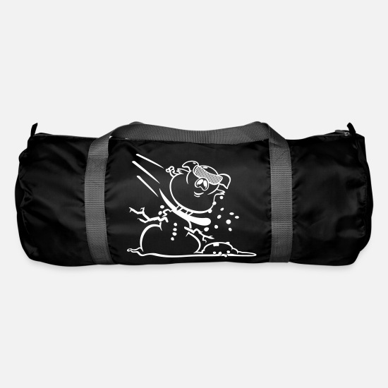 Hog Bags & Backpacks - Pistensau / Ski hooligan Pig (lineart, 1c) - Duffle Bag black