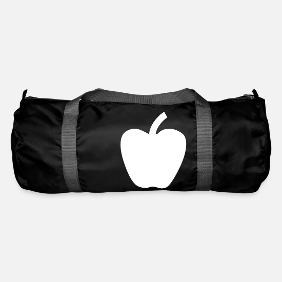 Snow Bags & Backpacks - Apple red green fruit fruity snow white - Duffle Bag black