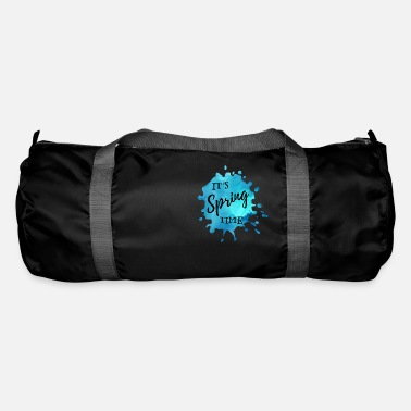 Springs Splash of color blue It's Spring Time - Duffle Bag