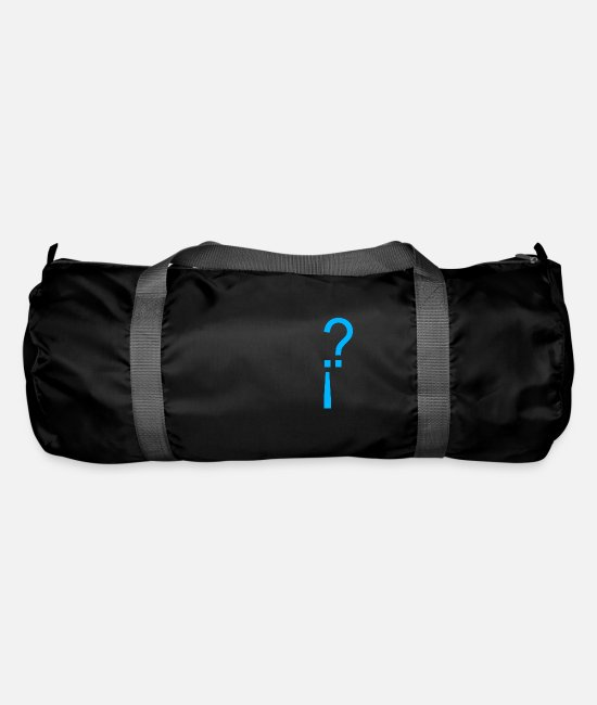 High School Graduate Bags & Backpacks - Question mark exclamation mark - Duffle Bag black