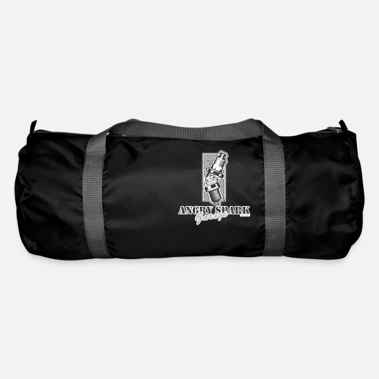 Spark Plug Bags & Backpacks - Angry Spark Garage Spark Plug Tuning Car Turbo - Duffle Bag black