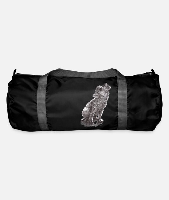 Young Bags & Backpacks - Young Howling Wolf - Duffle Bag black