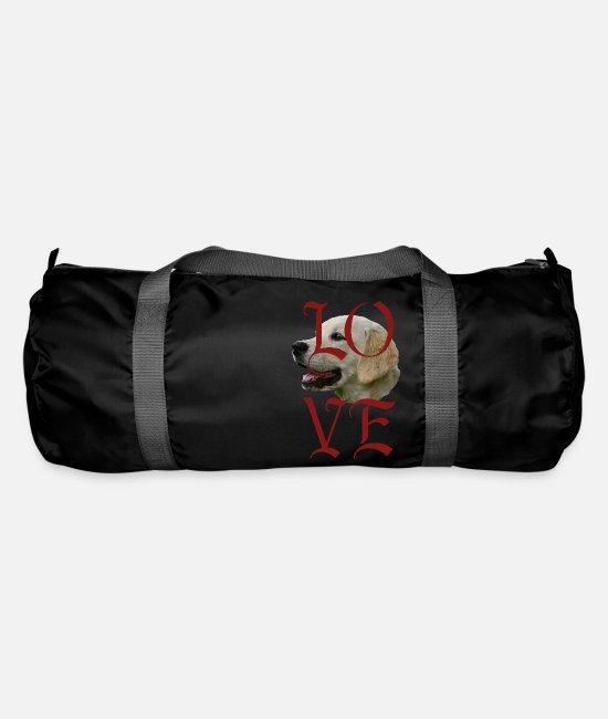 Obedience Bags & Backpacks - Golden Retriever, Dog Face, Dog Head, Dogs, - Duffle Bag black