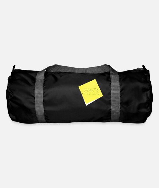 Office Bags & Backpacks - I love you, sticky notes, leaflets Notz - Duffle Bag black