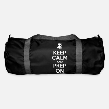 Gas Mask keep calm and pre on gas mask prepper - Duffle Bag