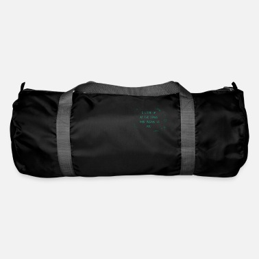 Stars I look up at the stars, planets, skies, commemoration - Duffle Bag