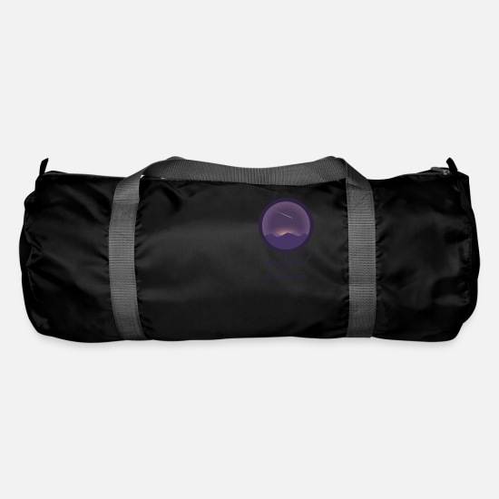 Shooting Star Bags & Backpacks - Landscape at night - Duffle Bag black