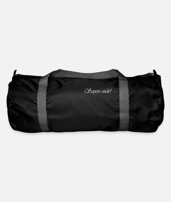 Spruce Bags & Backpacks - Sapere aude! - Duffle Bag black