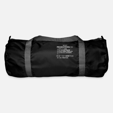 Program What programmers do and what they don't do (white) - Duffle Bag