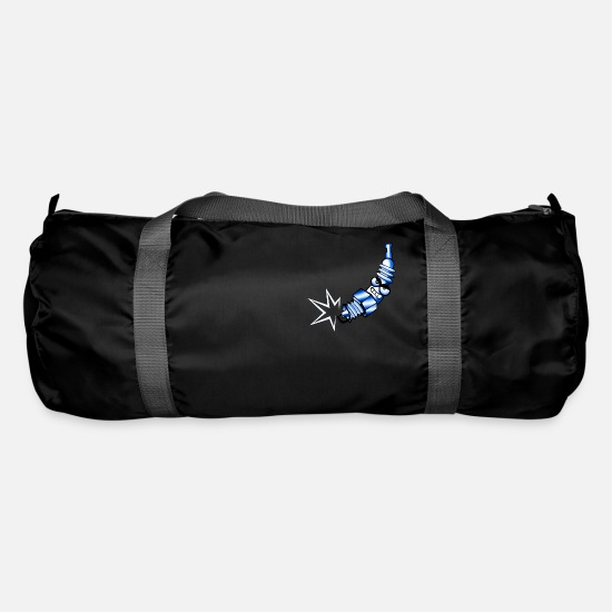 Motor Bags & Backpacks - Spark plug comic blue - Duffle Bag black